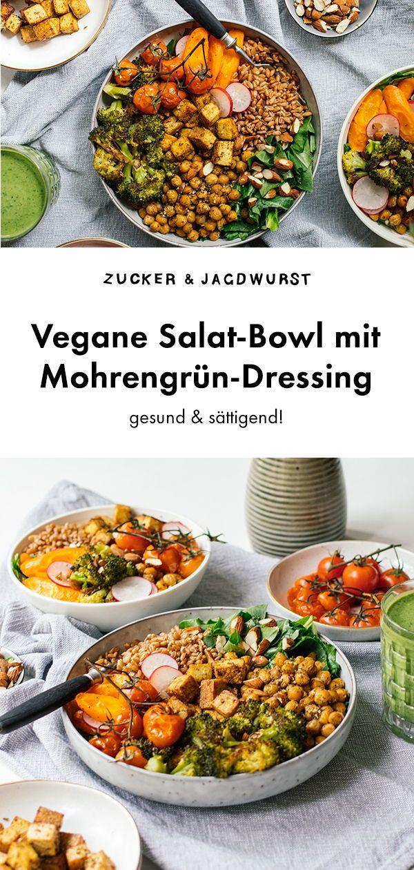 Salat Bowl Mit Tofu Und Mohrengrun Dressing Rezept Tofu Salat Bowl Brokkolisalat Rezepte