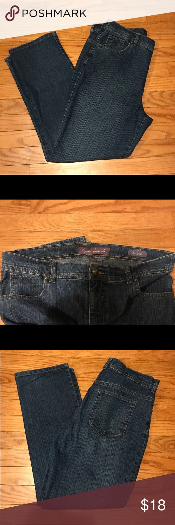 Gloria Vanderbilt Amanda Jeans size 14 Petite Gloria Vanderbilt Amanda Jeans size 14P.  Like condition except for some slight wear on the very bottom where jeans might touch the ground. Smoke free home. Gloria Vanderbilt Jeans