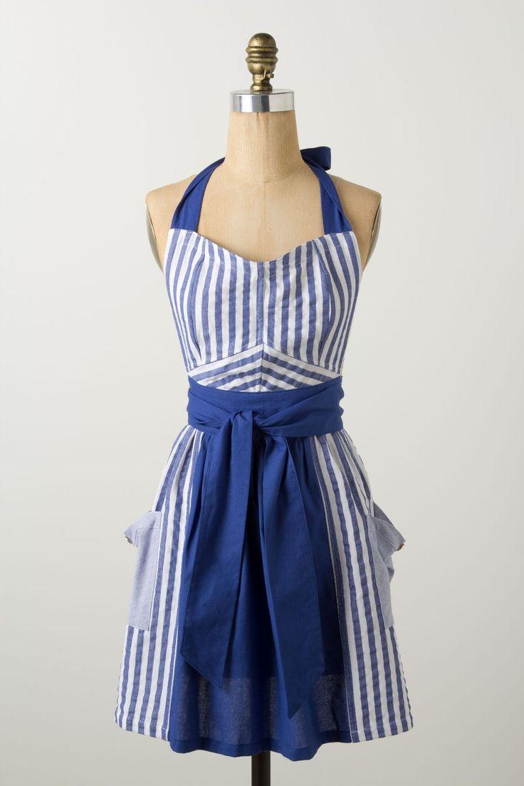 White girly apron - Stripes Abound Apron