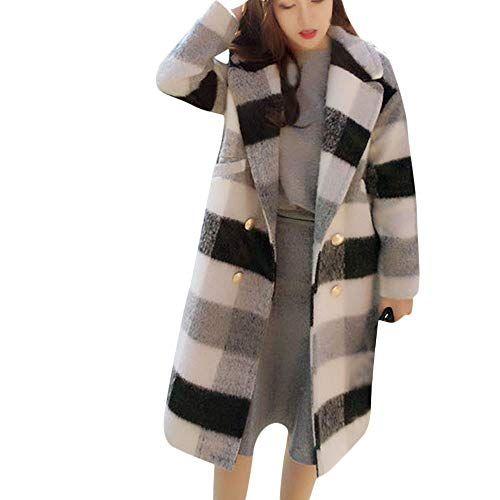 Warm Coat Fluffy Outwear Long Sleeve Hooded Winter Jacket Striped Women/'s Parka