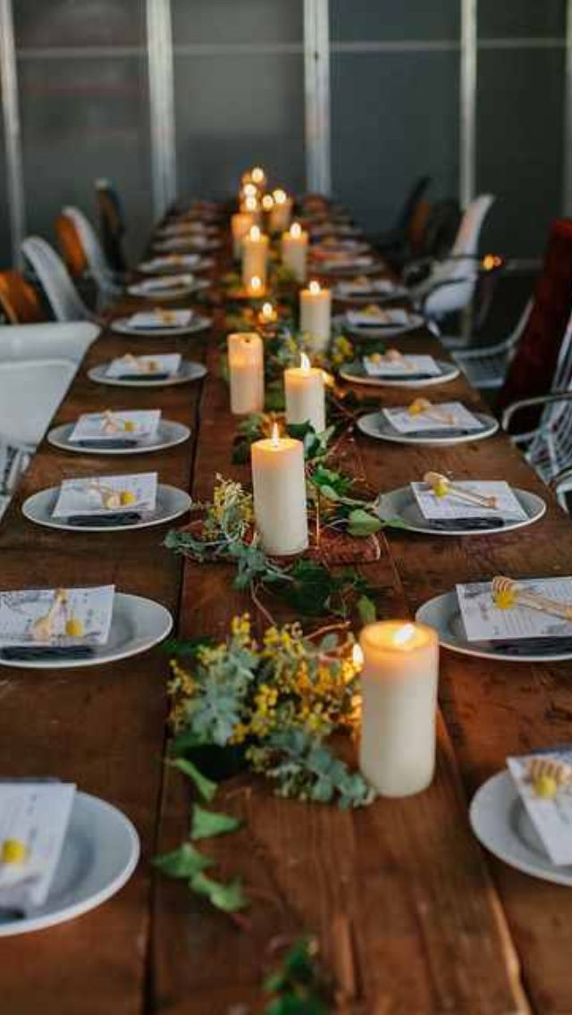 Rustic Christmas Wedding Table Setting Party Hosting