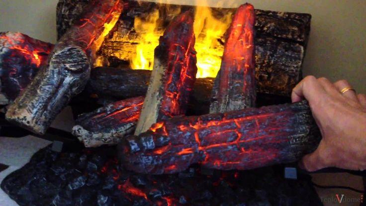 Декоративный огонь и дрова с подсветкой для камина своими руками