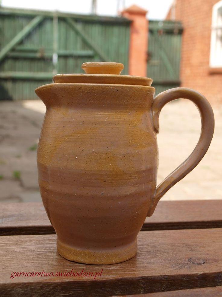 Koroneczka - frywolitki i ceramika: Gliniany czajniczek do herbaty #pottery www.koroneczka.pl