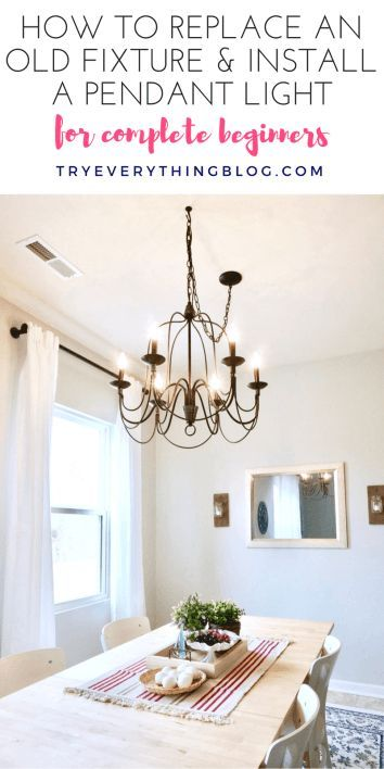 How To Install A Pendant Light Fixture And Swag It LightIndustrial ChandelierDining