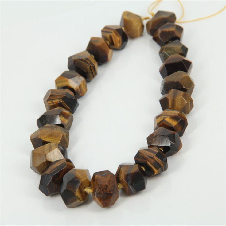 Prírodného kameňa korálky šperky Nugget Žltý Tiger Eye Kamenné Loose korálky DIY ženy / muži náramky módne šperky Gifts1Strand-in Korále z šperky a príslušenstva na Aliexpress.com | Alibaba Group