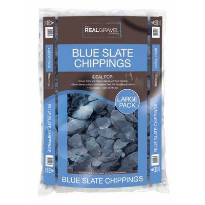 Real Gravel Blue Slate Chippings - 40mm