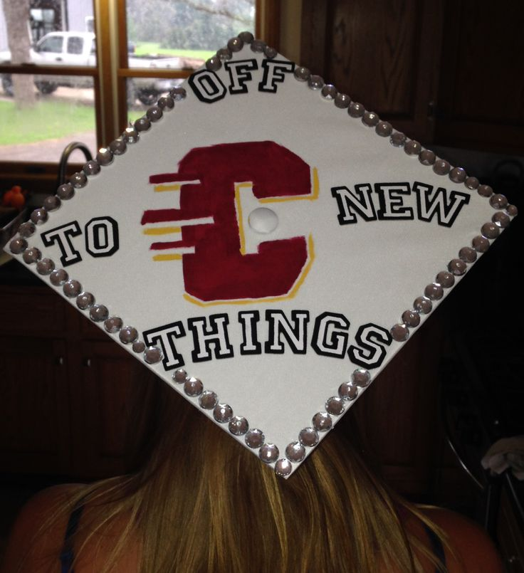Graduation Cap. Central Michigan University. Crafts. High school.