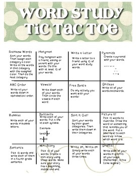 Blank programmable homework sheets for Tic tac toe homework template