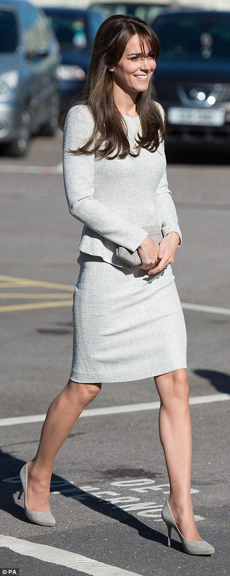 In keeping with the unusually sunny weather, Kate left her tights and jacket at home while...