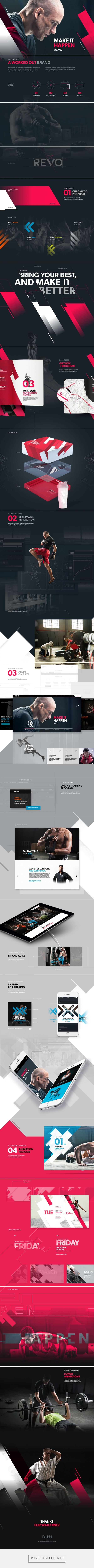 REVO Gym — Branding on Behance... - a grouped images picture - Pin Them All