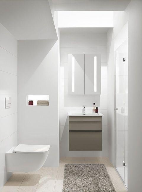 Best Tipps f r kleine B der G ste WCs Duschwanne anstatt Badewanne Helle Badm bel Dunkle Badm bel passen nicht zu einem lichtarmen oder fensterlosen