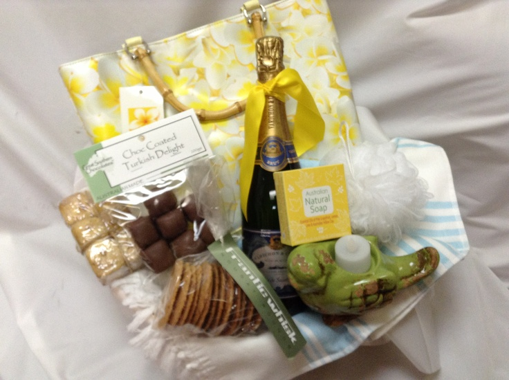 Champagne, Chocolates, Toiletries and Overnight bag and more