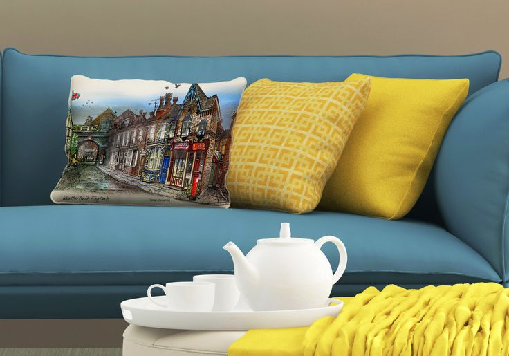Pillows - Coronation Street Pillows by #DavidCrighton_Art