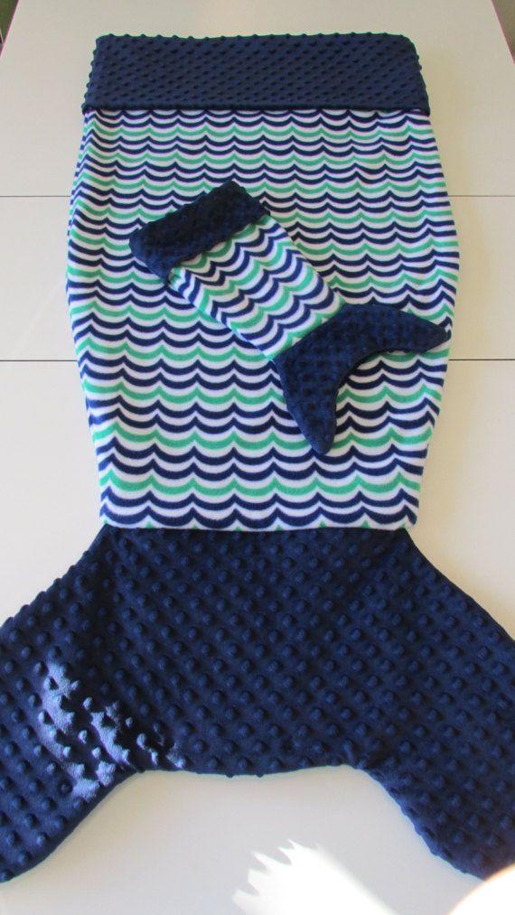 Polaire queue couverture W/Matching poupée queue de sirène