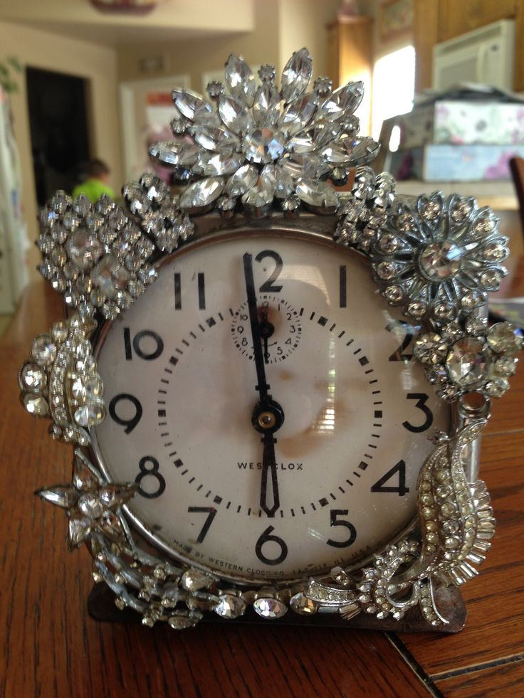 19 best images about jeweled alarm clocks on pinterest for Rhinestone jewels for crafts