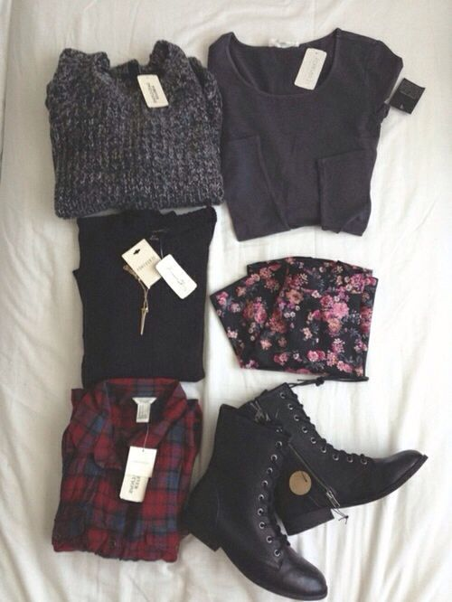 soft grunge clothing - I'm In LOVE - love the colors, the clothes look comfy, and of course in love with the boots (combat boots are my fav., I refuse to wear any other shoes :)
