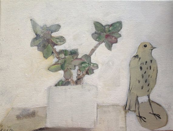 Oiseau et la plante portebonheur  impression 12  par tintabernacle
