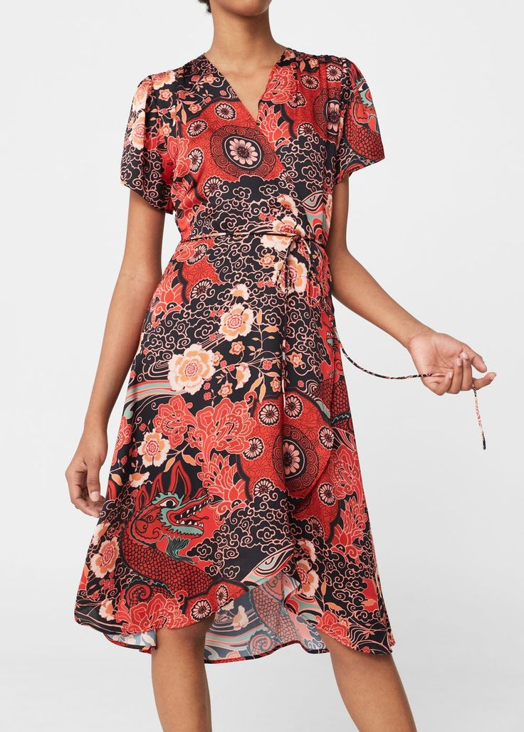 Print wrap dress | MANGO