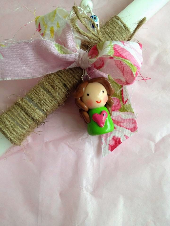 Sugarbaby Art . . . easter candles - handmade polymer clay doll
