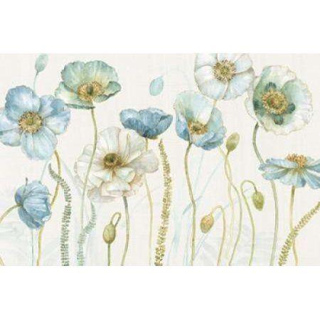 My Greenhouse Flowers I on Linen Cream Canvas Art - Audit Lisa (12 x 18)