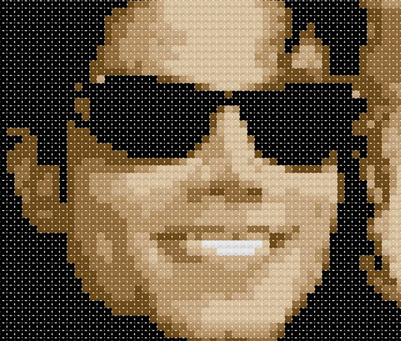 sandylandya@outlook.es  Michael Jackson Cross Stitch Pattern