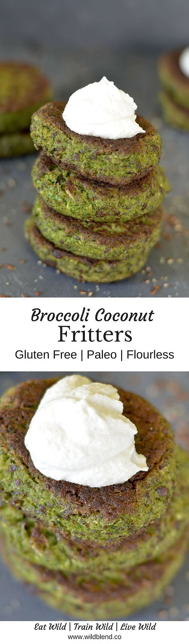 These beautiful broccoli fritters will satisfy even the pickiest of eaters and are an easy way to get more vegetables into your kids. For the full recipe, click here: http://www.wildblend.co/#!Flourless-Broccoli-Coconut-Fritters-Paleo/c1kw6/57860c690cf25aa82d55bcfc