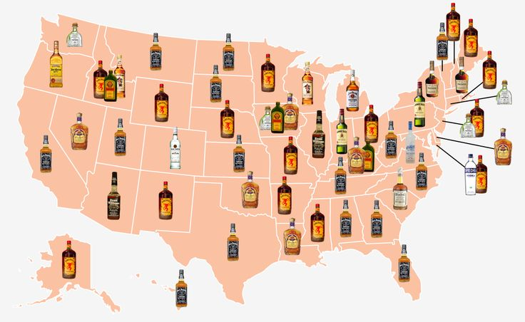 The Most Popular Alcoholic Drinks in Every State