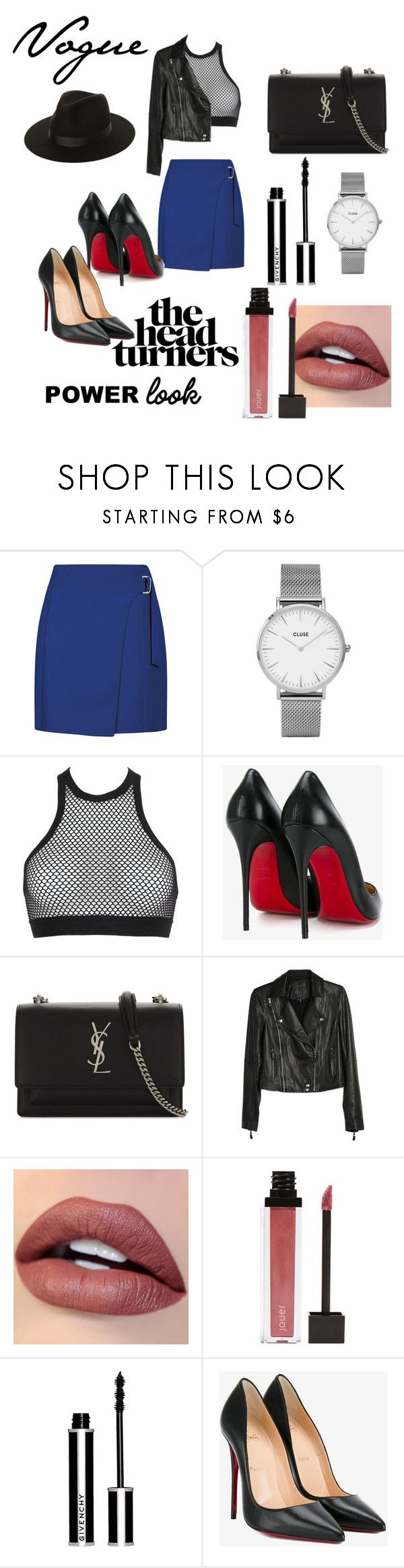 """""""My Power Look"""" by anamariahodinet on Polyvore featuring CLUSE, Dsquared2, Christian Louboutin, Yves Saint Laurent, Paige Denim, Jouer, Givenchy, Lack of Color, polyvorecontest and powerlook"""
