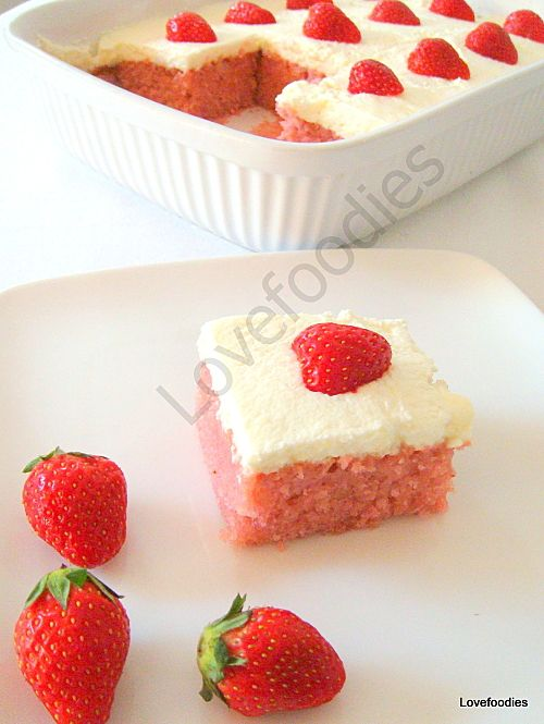 Moist Strawberry & Coconut Cake - Be sure to make two! One is never enough!