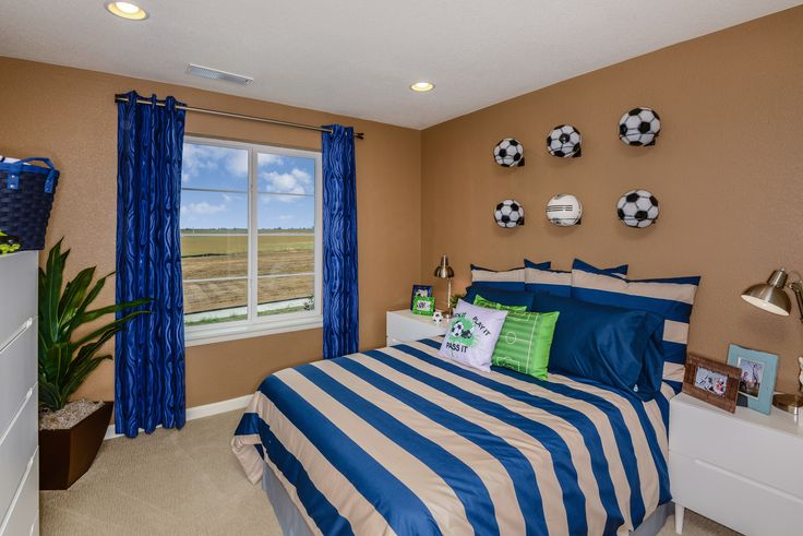 The perfect soccer themed room for your athlete  The