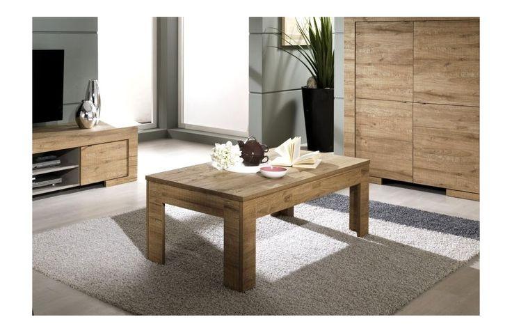 Table basse moderne en bois - Meuble de salon contemporain - Meuble et Canape.com