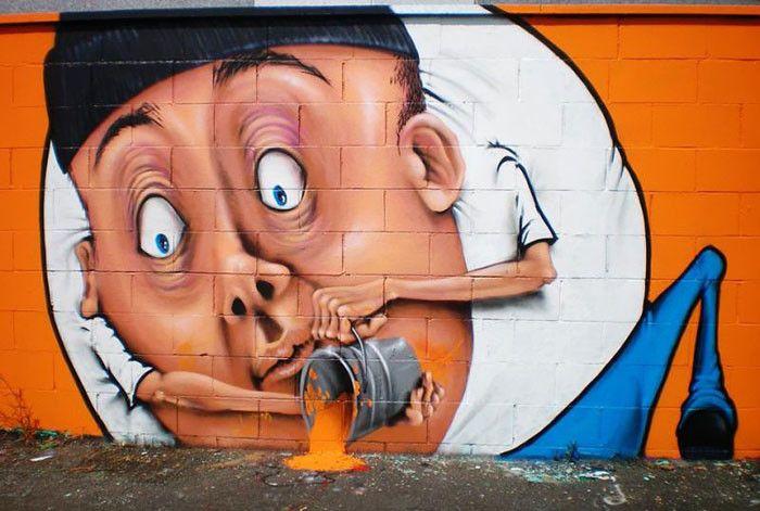 Интерактивное уличное искусство в Италии / Каифа Козимо 3
