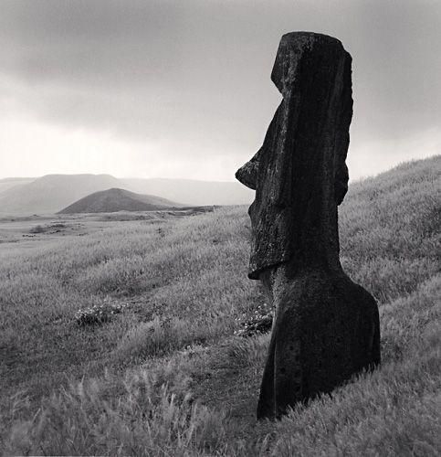 Michael Kenna: Moai, Study 47, Rano Raraku, Easter Island, 2001