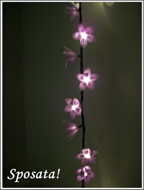 Origami flower fairy lights            *********