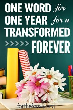 One word for one year for a transformed forever. Step 1 - Buy a journal. Step 2 - Pick a word. Step 3 - Collate your findings.