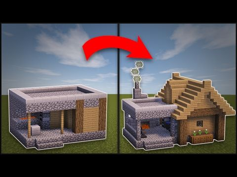 Minecraft how to remodel a village butcher 39 s shop for Classic house tutorial