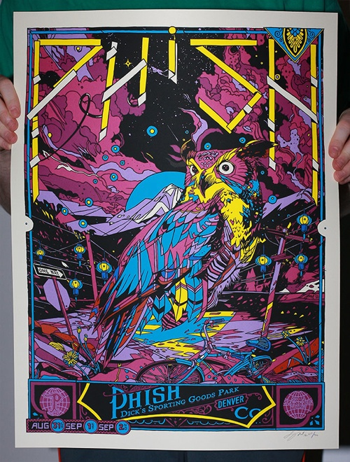 OMG Posters! » Archive » Tyler Stout's New Phish Poster (Lottery Sale Info)
