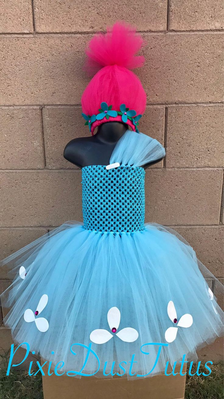 A personal favorite from my Etsy shop https://www.etsy.com/listing/528532062/trolls-princess-poppy-tutu-dress
