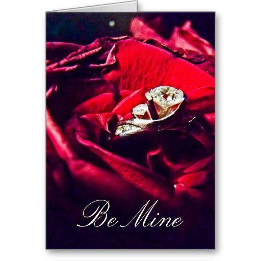 "Custom "" Be Mine "" Valentines Day Card"