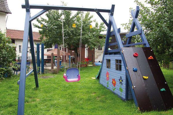 Schaukel-Kletter-Rutsche-Spielhaus (Diy Garden Swing)