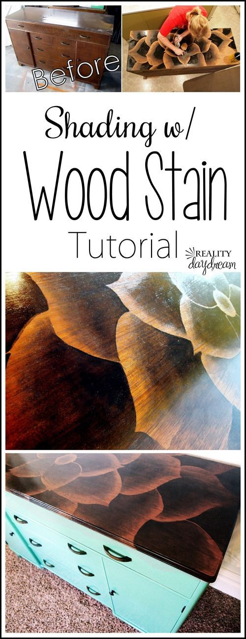 The ORIGINAL tutorial on how to Shade with Wood Stain to make beeeeautiful art on furniture! {Reality Daydream} #shadingwithstain