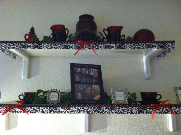 Craft room Decor Shelves