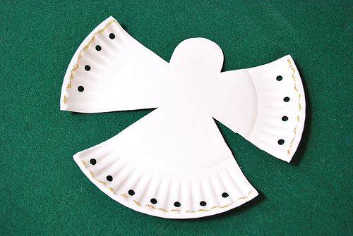 Preschool Crafts for Kids*: Simple Paper Plate Christmas Angel
