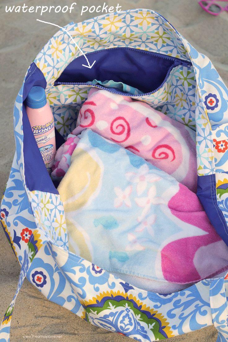 Oversized Beach Bag {Hello Summer} I Heart Nap Time | I Heart Nap Time - How to Crafts, Tutorials, DIY, Homemaker