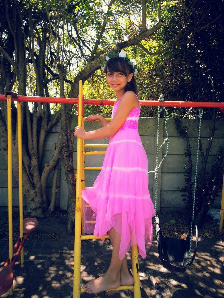 The Strappy Pink Tie Dye Dress