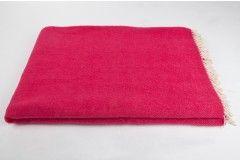 Manta 100% Pura Lana Virgen color rubí