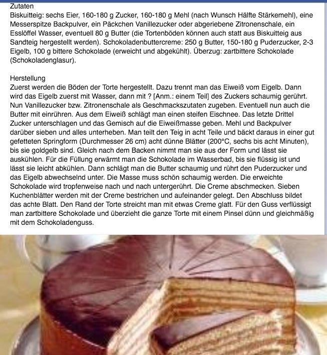 Prinzregenten Torte