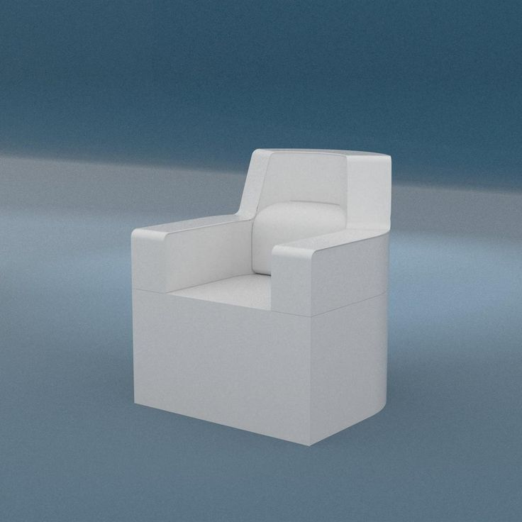 Contemporary armchair / synthetic leather / garden / with washable removable cover SOFTRONA Trona