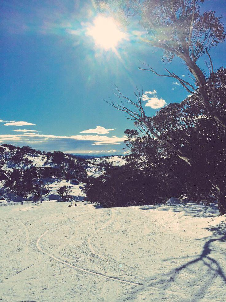 Beautiful blue skies at Perisher, Australia.