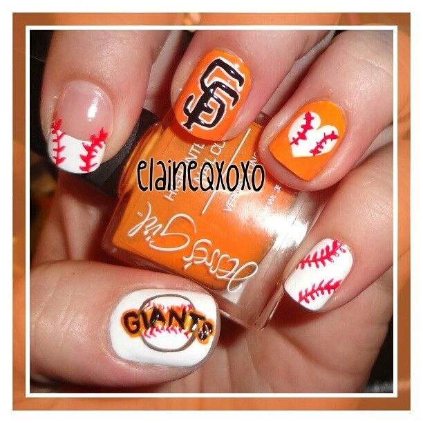 San Francisco Giants by   elaineqxoxo #nail #nails #nailart